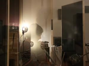 Recording cello for the This Leo Sunrise album SPOKEN